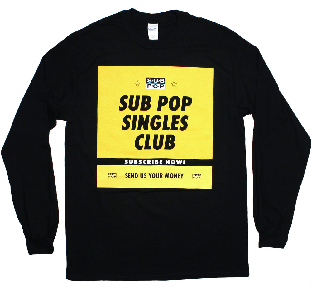 Sub Pop Records / Sub Pop Singles Club Long Sleeved Tee (Black)