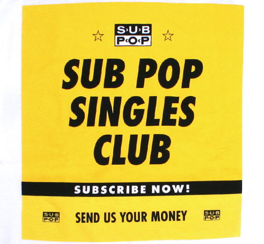 Sub Pop Records / Sub Pop Singles Club Tee (White)