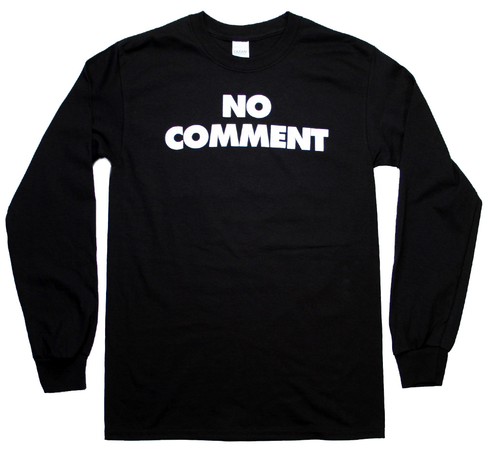Sub Pop Records / NO COMMENT Long Sleeve Tee (Black)
