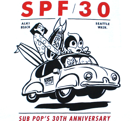 Sub Pop Records / SPF 30 Tee (White)