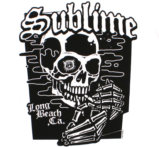 Sublime / Skull Tee (White)