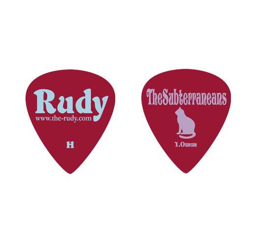 Rudy / The Subterraneans Pick (Heavy) 5pack (Wine Rose)