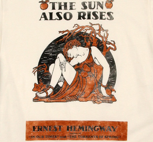 【Out of Print】 Ernest Hemingway / The Sun Also Rises Tee (Natural)