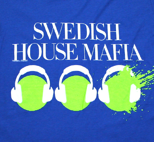 Swedish House Mafia / Headphones Tee (Royal Blue)