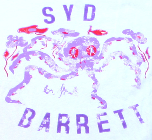 【Worn Free】 Syd Barrett / Octopus Tee (White)