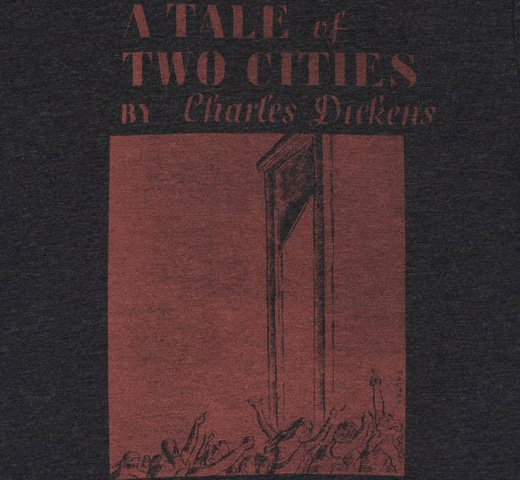 [Out of Print] Charles Dickens / A Tale of Two Cities Tee (Vintage Black)