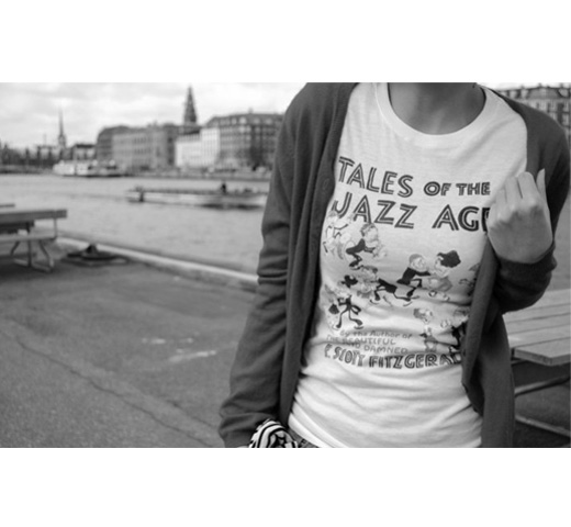 【Out of Print】 F. Scott Fitzgerald / Tales of the Jazz Age Tee (Natural)