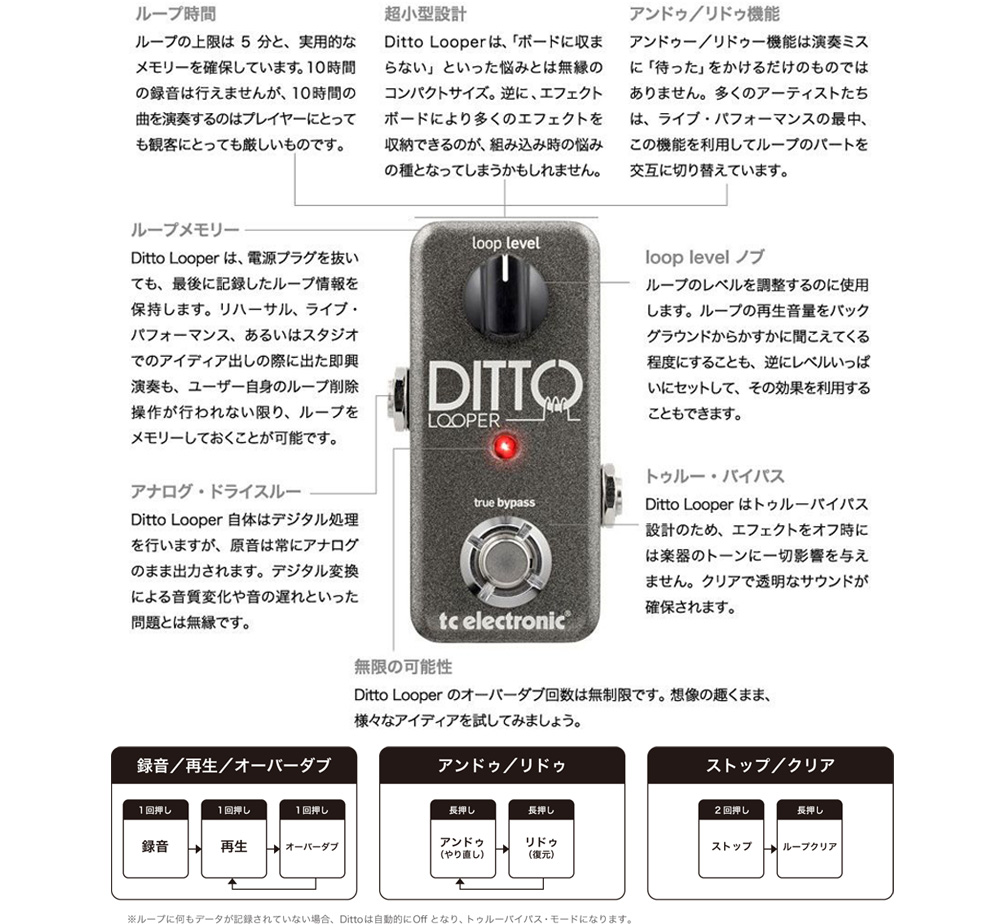 【tc electronic】 Ditto Looper