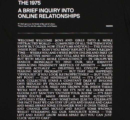 The 1975 / A Brief Inquiry into Online Relationships Tee 5 (Black)