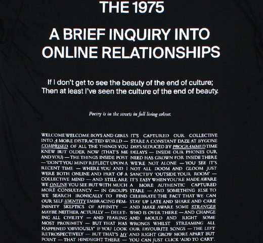 The 1975 / A Brief Inquiry into Online Relationships Tee 4 (Black)
