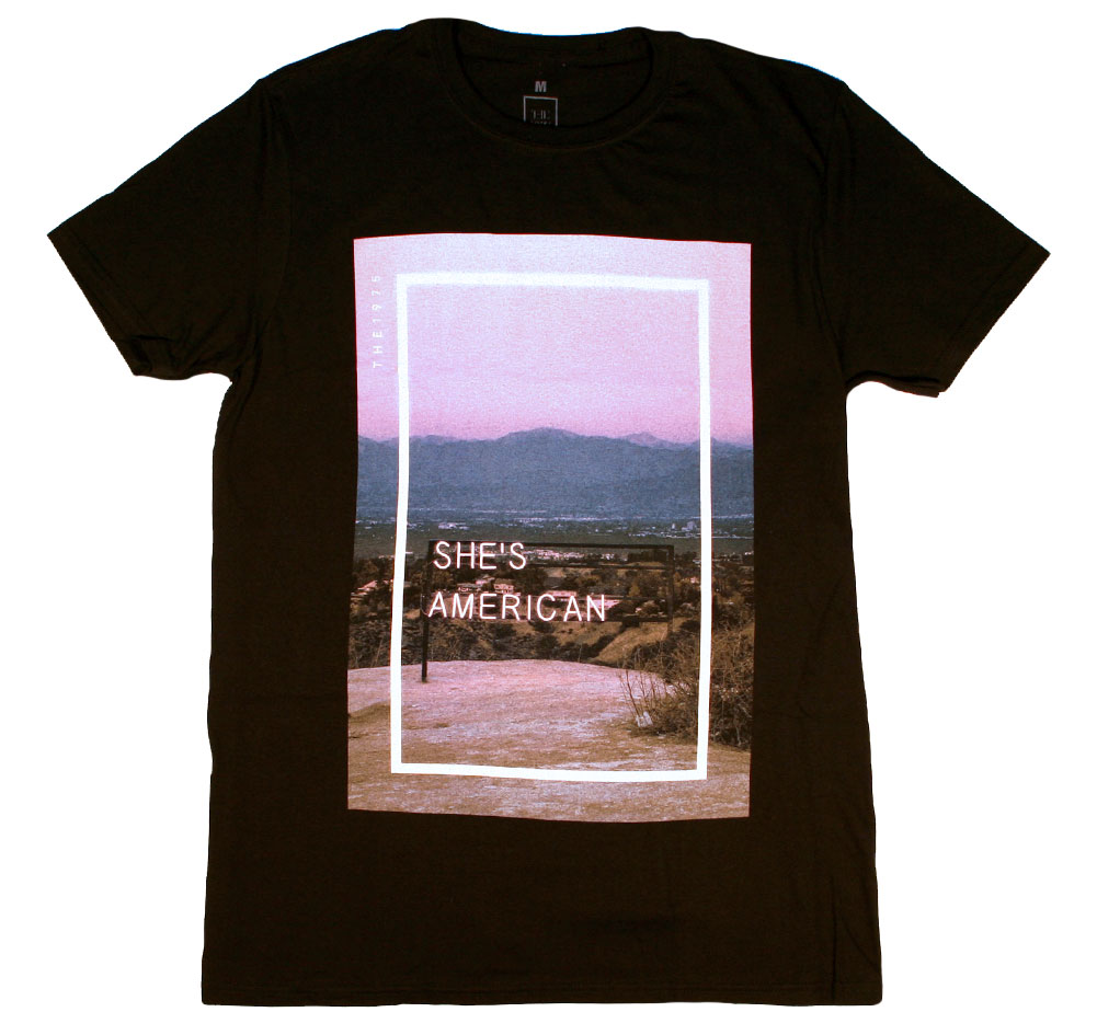 The 1975 / She's American Tee (Black)