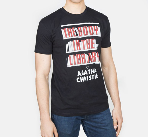 【Out of Print】 Agatha Christie / The Body in the Library Tee (Black)