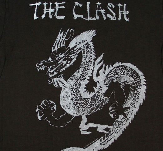 【Amplified】 The Clash / Dragon Tee (Charcoal)
