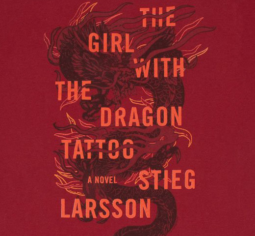 [Out of Print] Stieg Larsson / The Girl with the Dragon Tattoo Tee (Cardinal Red)