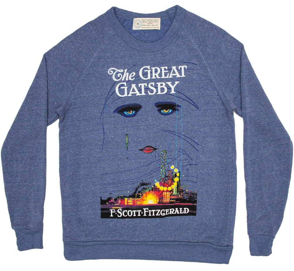 [Out of Print] F. Scott Fitzgerald / The Great Gatsby Sweatshirt (Light Blue)