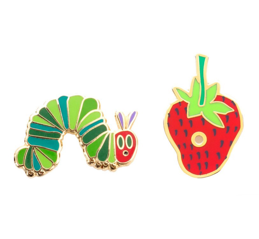 【Out of Print】 Eric Carle / The Very Hungry Caterpillar Enamel Pin Set
