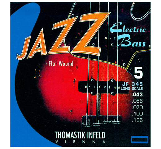 "【Thomastik-Infeld】 Jazz Electric Bass JF345 Long Scale 34"" (.043-.136)"