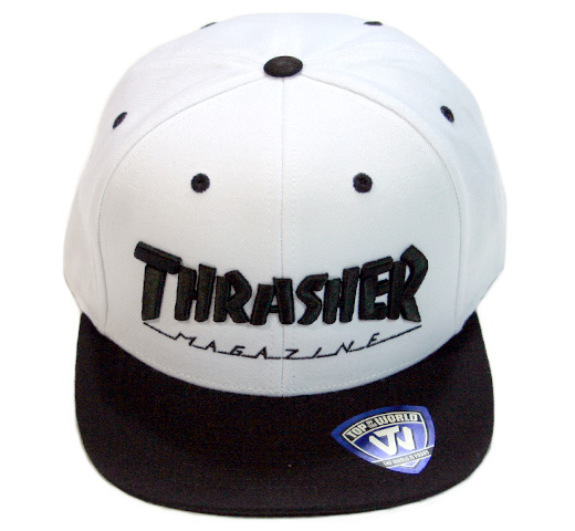 【THRASHER】 Mag Logo Cap [15TH-C50] (White / Black)