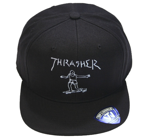 【THRASHER】 Gonz Art Emblem Cap [15TH-C64] (Black)