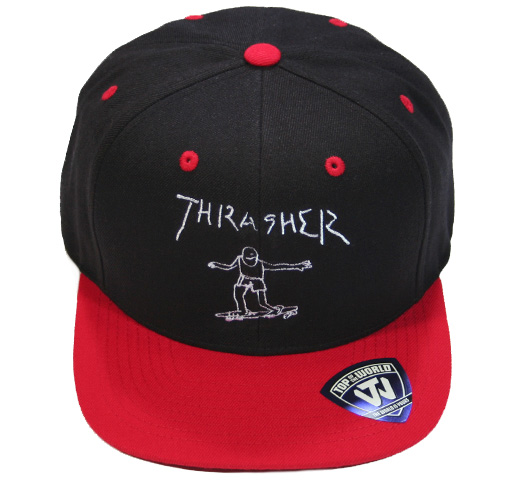 【THRASHER】 Gonz Art Emblem Cap [15TH-C64] (Black / Red)