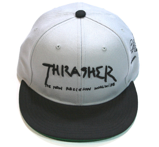 【THRASHER】 Gonz Art Snap Back Cap [16TH-C03] (Grey / Black)
