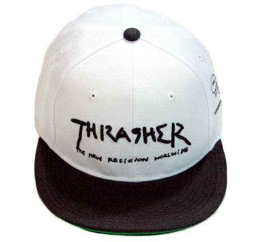 【THRASHER】 Gonz Art Snap Back Cap [16TH-C03] (White / Black)