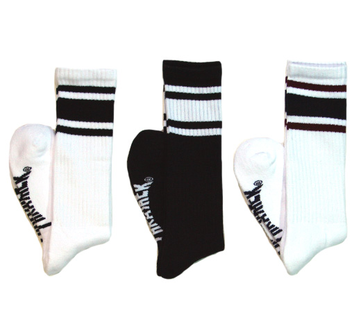 【THRASHER】 Mag Logo Hi Socks [TH8881] (White / Navy)
