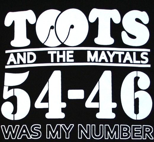 Toots & the Maytals / 54-46 Was My Number Tee (Black)
