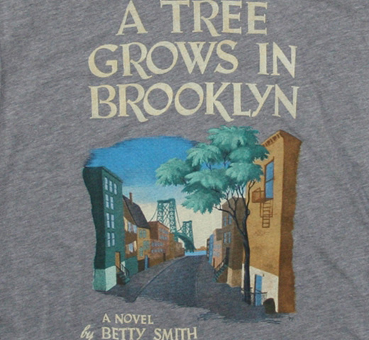 【Out of Print】 Betty Smith / A Tree Grows in Brooklyn V-Neck Tee (Heather Gray) (Womens)