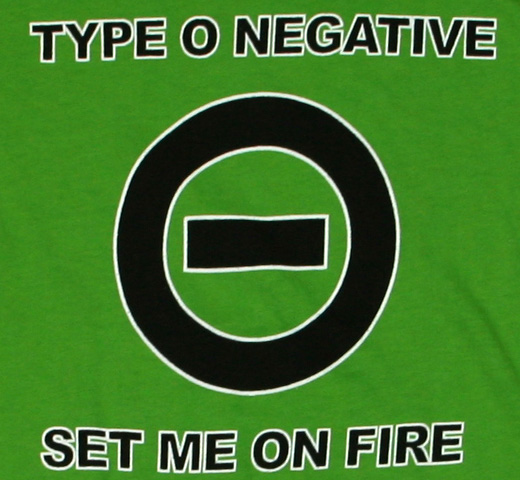 Type O Negative / Set Me On Fire Tee (Womens)