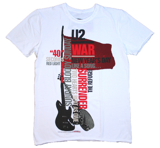 【Amplified】 U2 / War Tee (White)