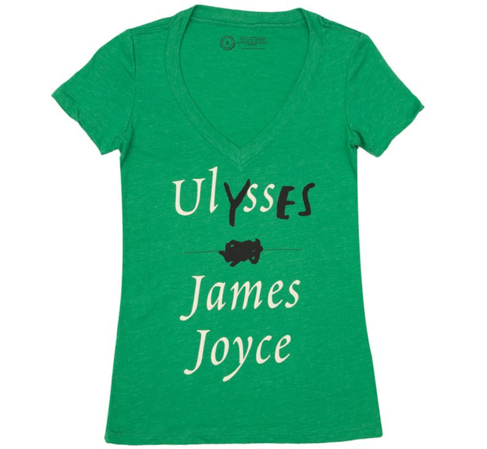 【Out of Print】 James Joyce / Ulysses V-Neck Tee (Kelly Green) (Womens)