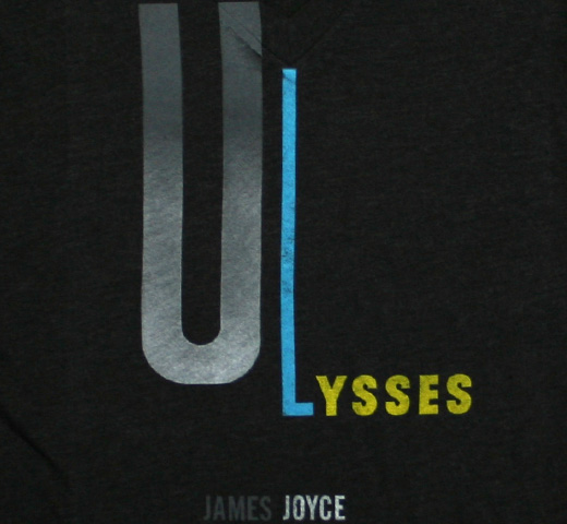 【Out of Print】 James Joyce / Ulysses V-Neck Tee (Vintage Black) (Womens)