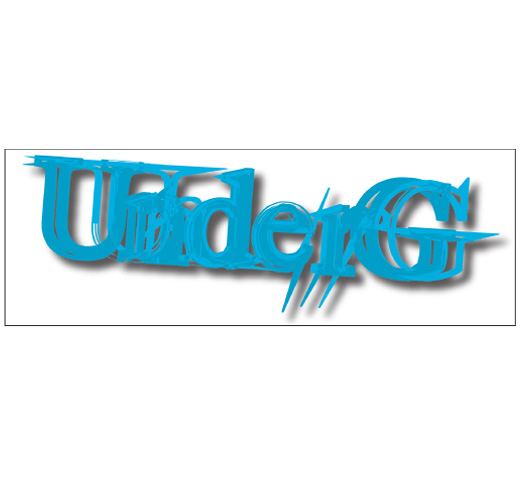 UnderG / Logo Sticker (Blue)