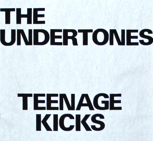 【Worn By】 The Undertones / Teenage Kicks Tee (Black)