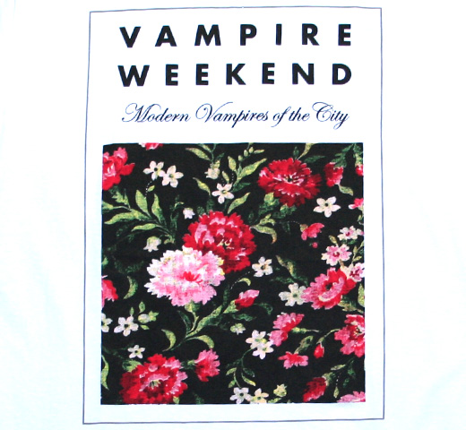 Vampire Weekend   Modern Vampires of the City Floral Tee  White Vampire Weekend Modern Vampires Of The City Floral