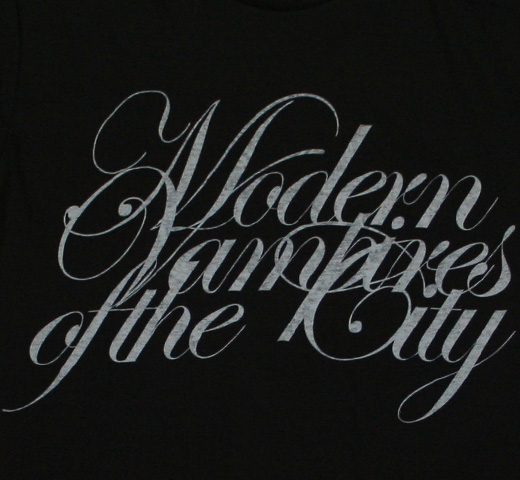 Vampire Weekend   Modern Vampires of the City Logo Tee  Black Vampire Weekend Modern Vampires Of The City Floral