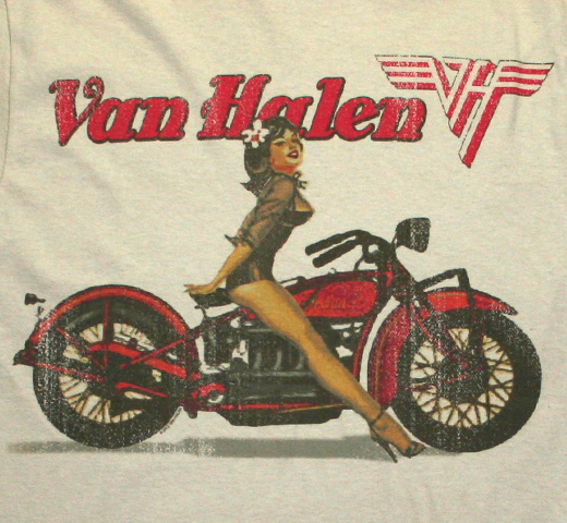 Van Halen / Biker Pin Up Tee (Sand)