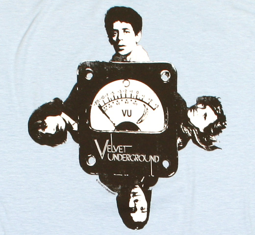 The Velvet Underground / Four - Headed VU Meter Tee (Light Blue)