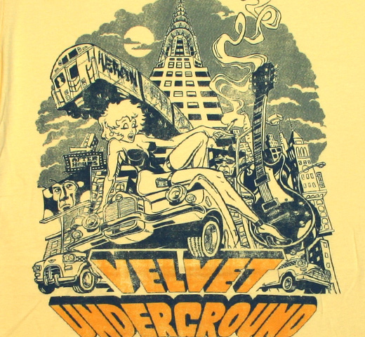 The Velvet Underground / Collage Illustration of NYC Tee (Yellow)