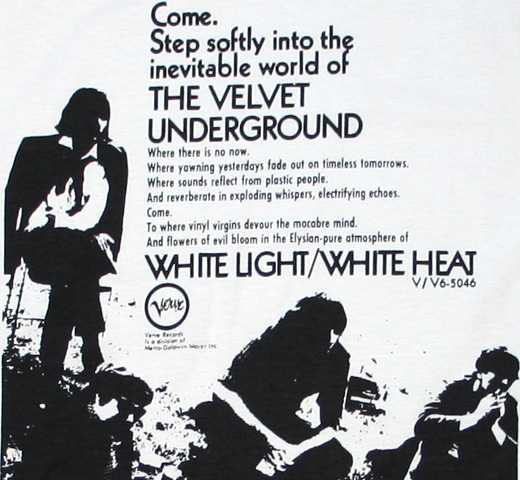 The Velvet Underground / White Light / White Heat Tee 2 (Vintage White)