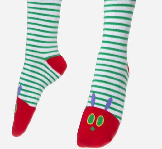 【Out of Print】 Eric Carle / The Very Hungry Caterpillar Socks