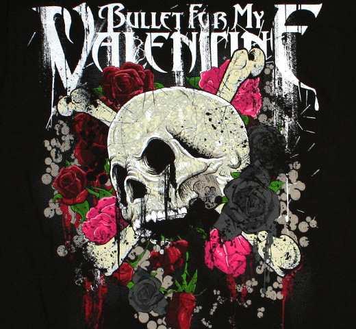 Bullet For My Valentine / Skull & Rose Tee