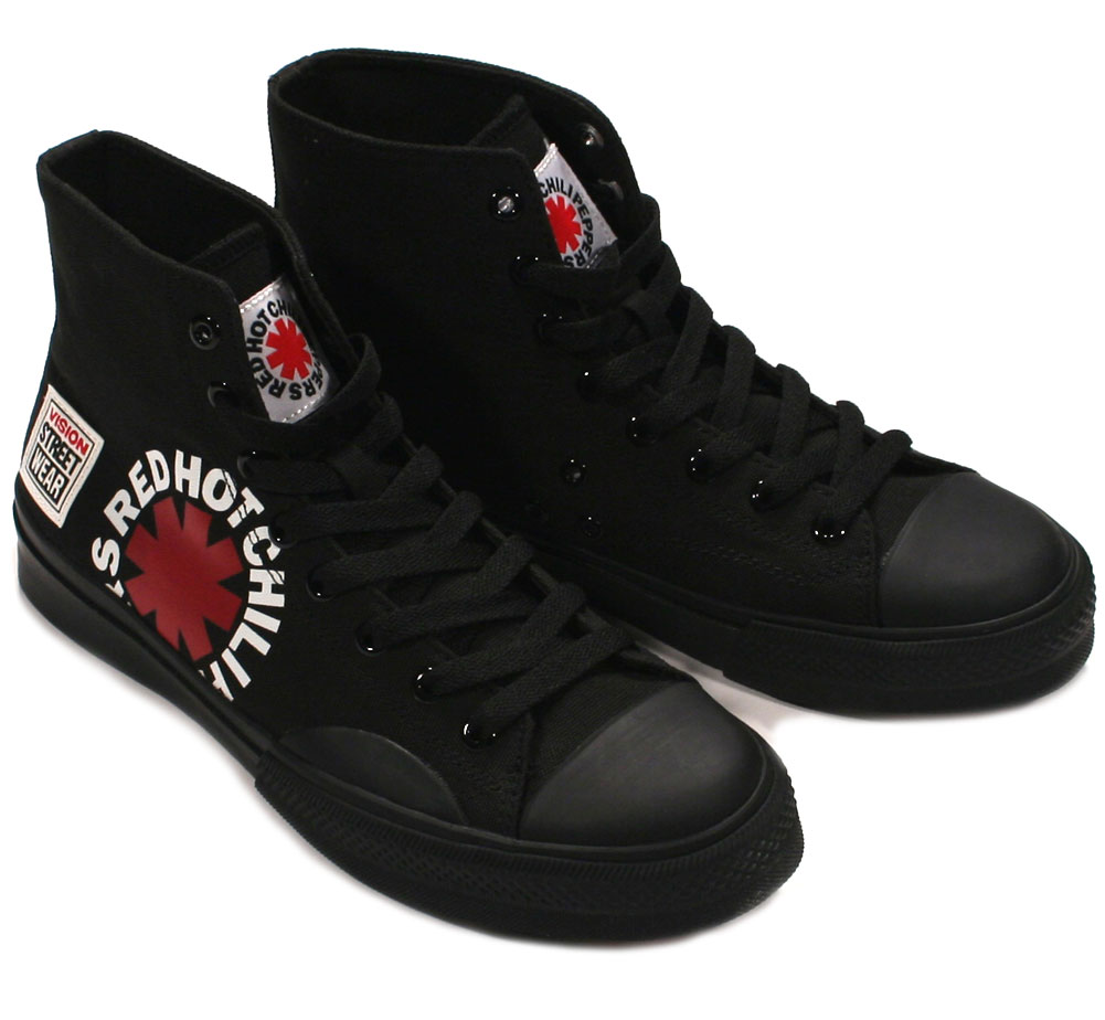 [VISION STREET WEAR] Red Hot Chili Peppers / Canvas Hi (VSW-9157) (Black)