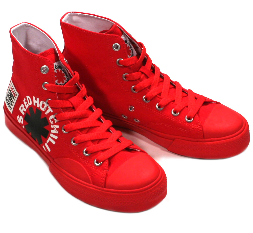 [VISION STREET WEAR] Red Hot Chili Peppers / Canvas Hi (VSW-9157) (Red)