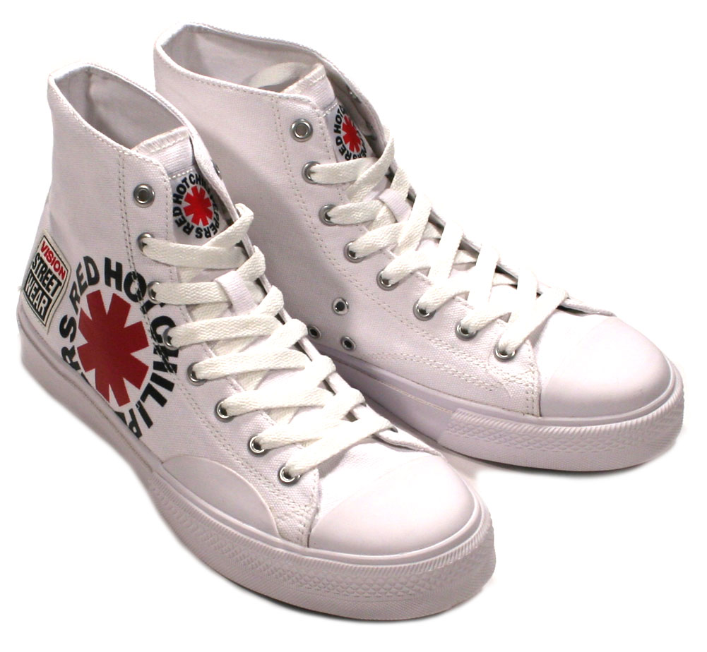[VISION STREET WEAR] Red Hot Chili Peppers / Canvas Hi (VSW-9157) (White)