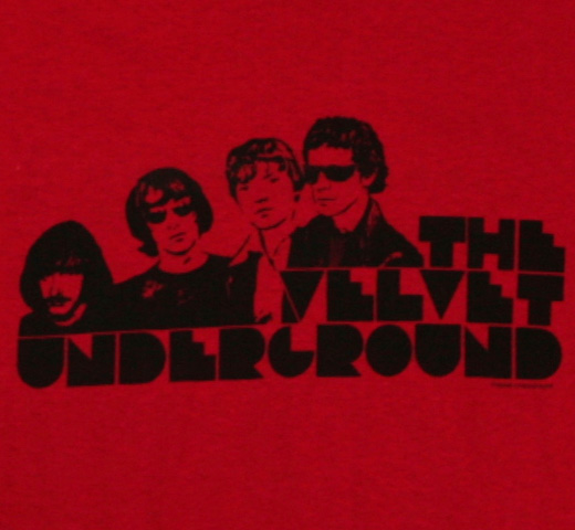 The Velvet Underground / Cardinal Block Letters Tee (Red)