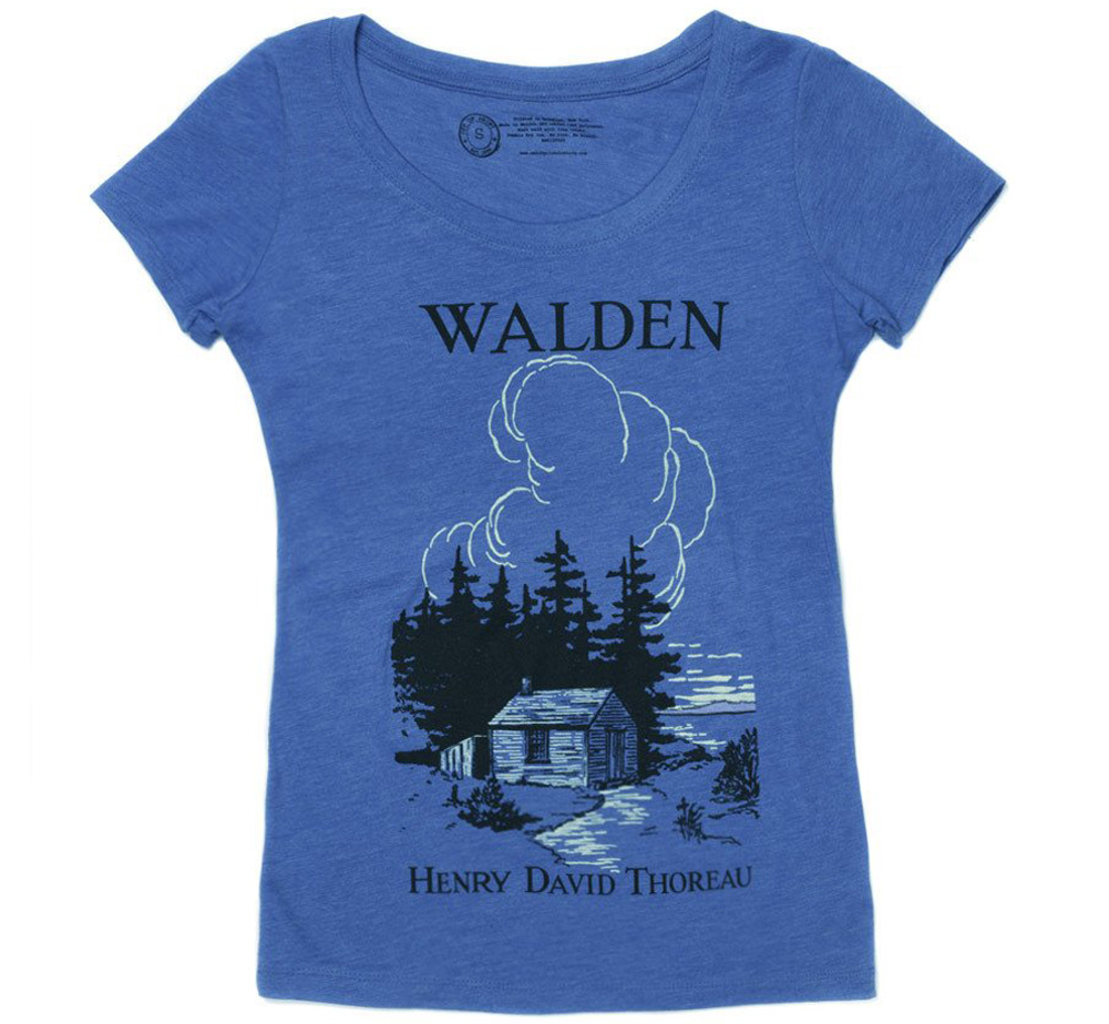 [Out of Print] Henry David Thoreau / Walden Scoop Tee (Vintage Royal) (Womens)