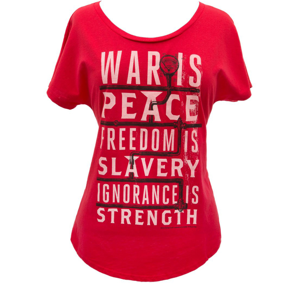 [Out of Print] George Orwell / 1984 Womens Relaxed Fit Tee (Red)