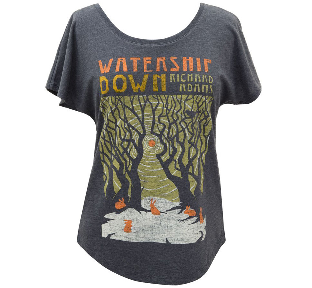 [Out of Print] Richard Adams / Watership Down Dolman Tee (Black) (Womens)